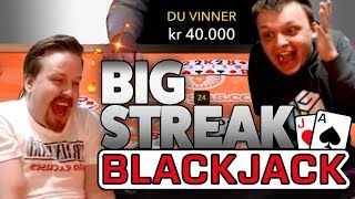 Blackjack winning streak