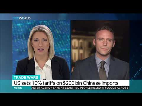 US sets 10 percent tariffs on $200 billion Chinese imports