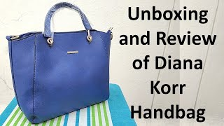 Unboxing and Review of Diana Korr Blue Handbag - Indian Fashion Trends