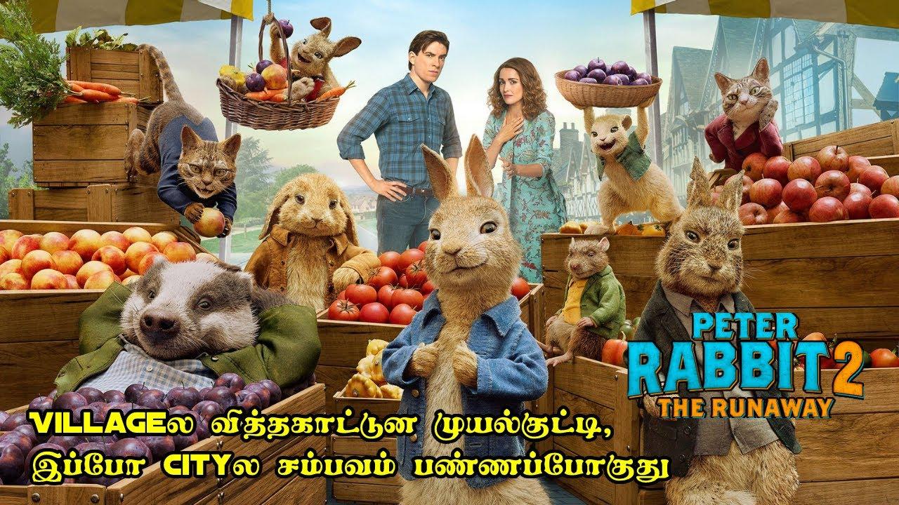 முயல்குட்டி இப்போ Cityல சம்பவம் பண்ணப்போது | Peter Rabbit 2 |Movie Explained in Tamil |Film Feathers