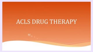 acls drugs therapy