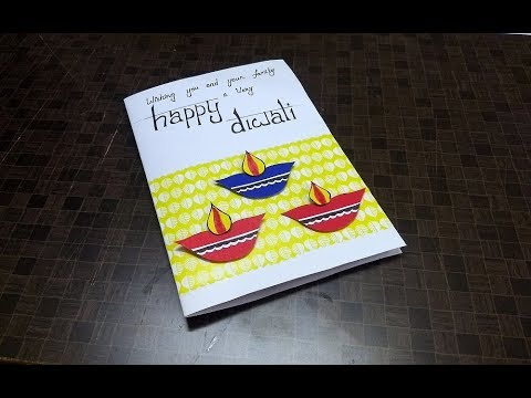 Handmade cards ideass two layered birthday card design for easy handmade diwali card making idea complete tutorial m4hsunfo