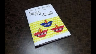 EASY HANDMADE DIWALI CARD Making Idea   complete tutorial