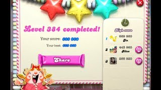 Candy Crush Saga Level 384 ★★★ NO BOOSTER