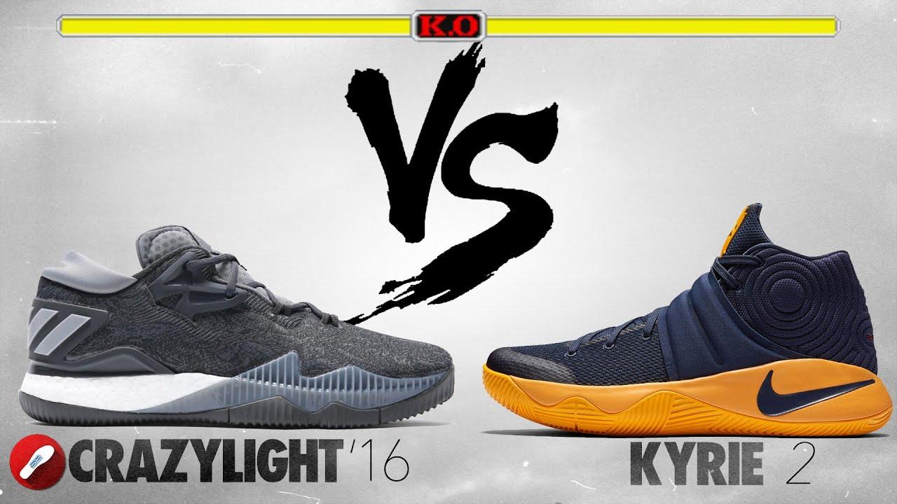 Adidas CrazyLight Boost 2016 vs Nike Kyrie 2!