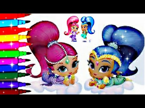 Shimmer And Shine Coloring Book Pages Sparkle Nickelodeon Videos Kids Fun Art Disney Brilliant Color