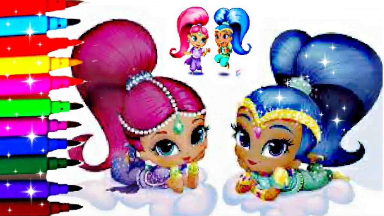 Coloring pages shimmer and shine - Shimmer And Shine Coloring Book Pages Sparkle Nickelodeon Videos Kids Fun Art Disney Brilliant Color