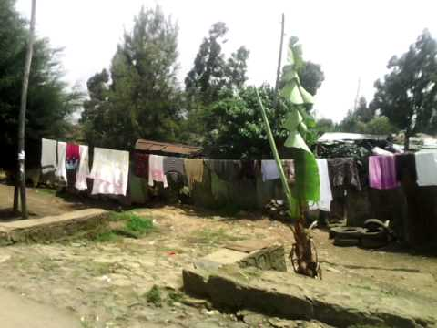 Etiopia - Droga z góry Entoto do Addis Abeby