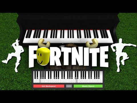 FORTNITE DANCES... Played On ROBLOX PIANO!
