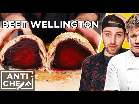 Making Gordon Ramsay's Complicated VEGAN Recipe | Beet Wellington