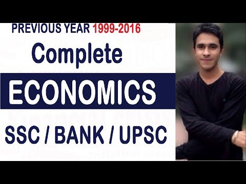 ECONOMICS For SSC CGL    Complete Economy Notes and Previous Year MCQ    SSC    BANK    UPSC