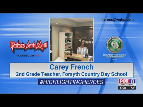 FOX8 Highlighting Heroes: Carey French, teacher at Forsyth Country Day School