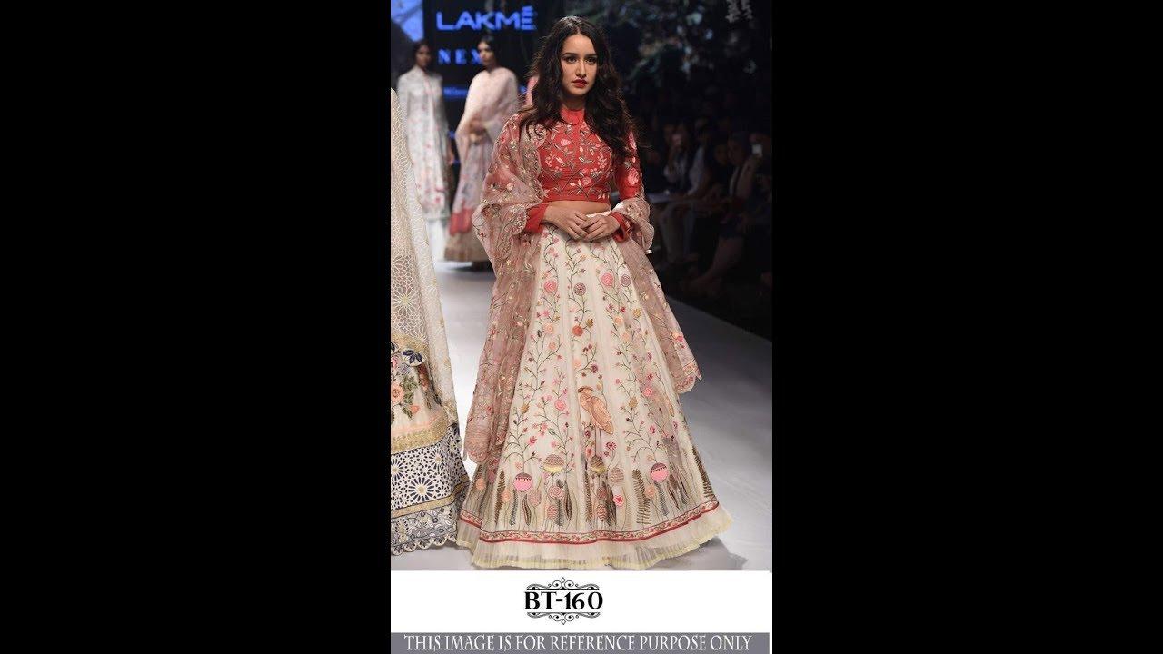 bec94e0e3b1b49 Shop Shraddha Kapoor Designer Crop Top Lehenga BT 160 Replica Online ...