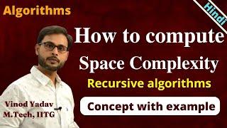 Space complexity of Recursive algorithms