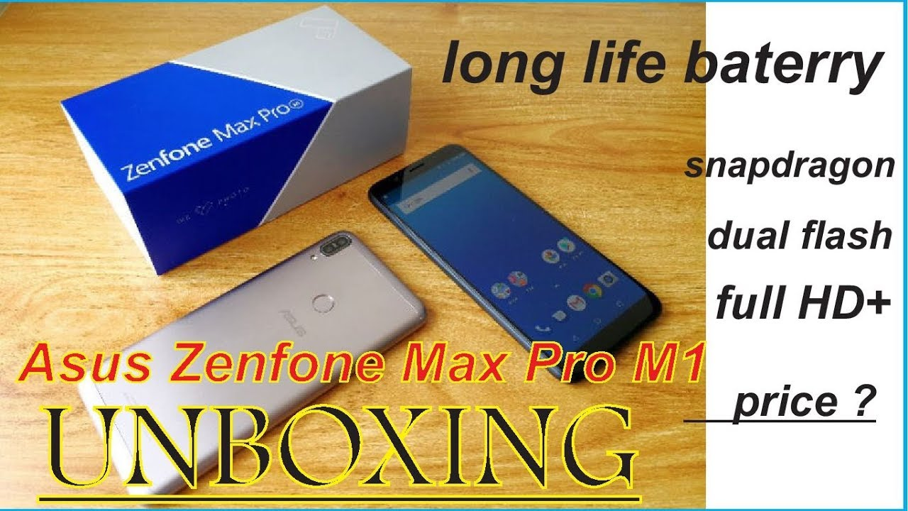 unboxing asus zenfone max pro m1 full details in hindi 8000rs