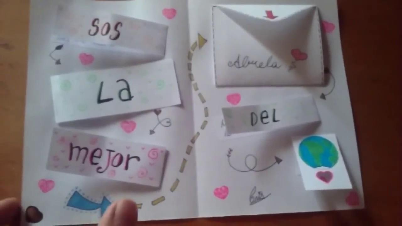 Tarjeta de cumplea os para mi abuela youtube for Regalos abuela ideas