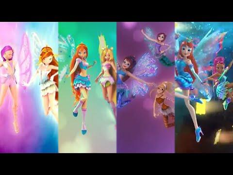 Winx Club: All 3D/CGI Transformations - Enchantix to Mythix!