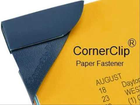 CornerClip(R) The Ultimate Paper Fastener!