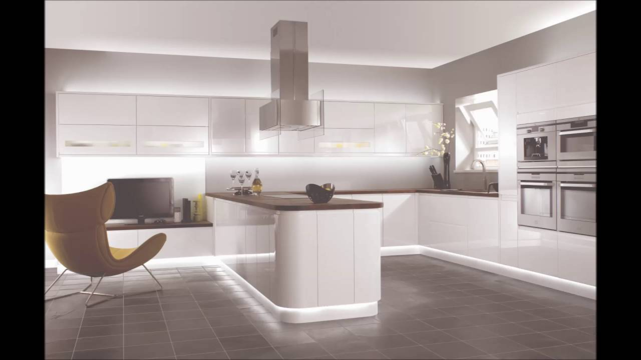 Modern minimalist kitchen set design