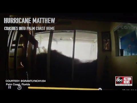 Storm surge from Hurricane Matthew slams into Palm Coast home
