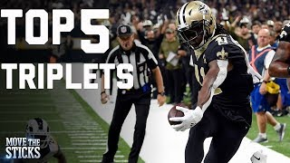 Top 5 NFL Triplets of 2018  | Move the Sticks | NFL Network