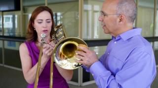 the trombone horn challenge on sarah´s music