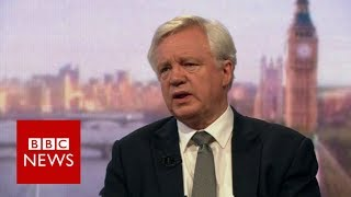 David Davis: Brexit secretary unsure if election can be postponed - BBC News