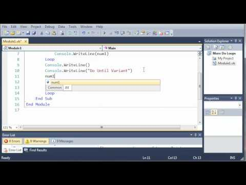 Visual Basic Tutorial - 33 - More On Do Loops