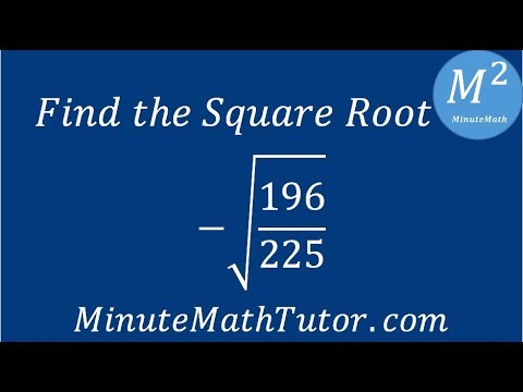 Find The Square Root 196 225 Youtube Radical 225 simplified gives step by step instructions on how to simplify the square root 225 in simplest radical form. find the square root 196 225