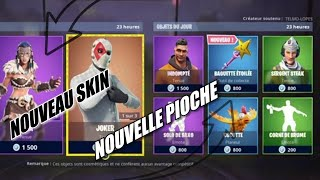 FORTNITE: new SKINS AND PIOCHES shop of the day! BAGUETTE ETOILEE March 19, 2019