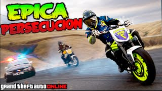 PERSECUCION EPICA EN MOTO !! GTA 5 ONLINE VS POLICIAS !! GTA V Funny Moments Makiman
