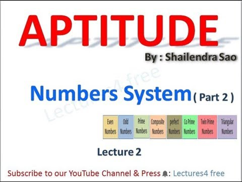 Aptitude Lectures Number System Part-2 (for GATE, BANK, PSU and other  Goverment Exams)