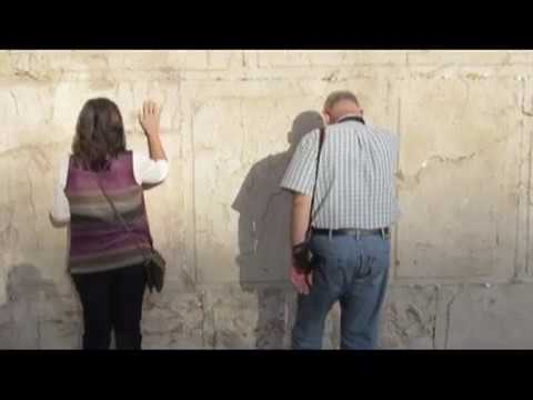 Men and women pray together at the Wailing Wall (Western Wall). Tour Guide: Dina Horn.