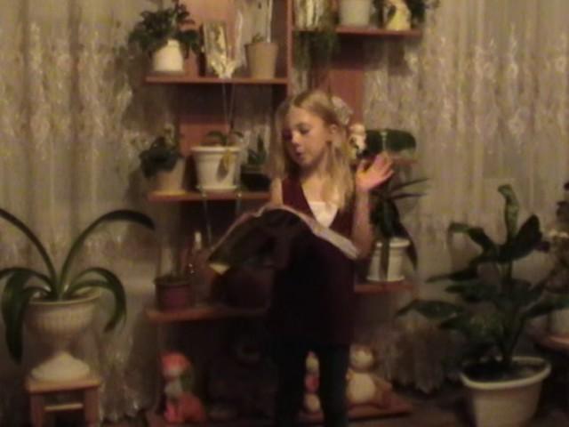 Изображение предпросмотра прочтения – АнгелинаДолганева читает произведение «Кошкин щенок» В.Д.Берестова