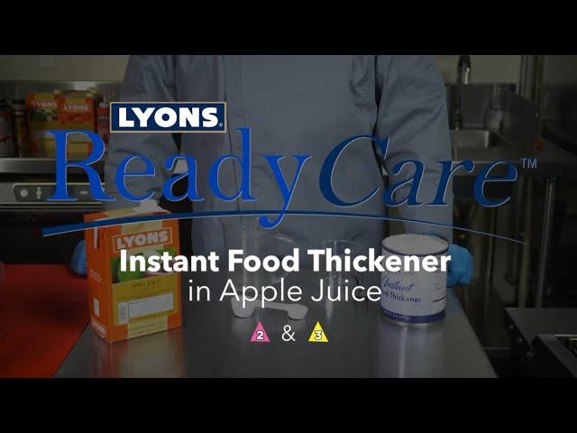 Instant Food Thickener in Apple Juice