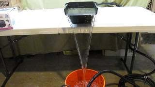 Pond Waterfall Project Part 1 Pacific Hydrostar Harbor Freight Pump, Total Pond Spillway