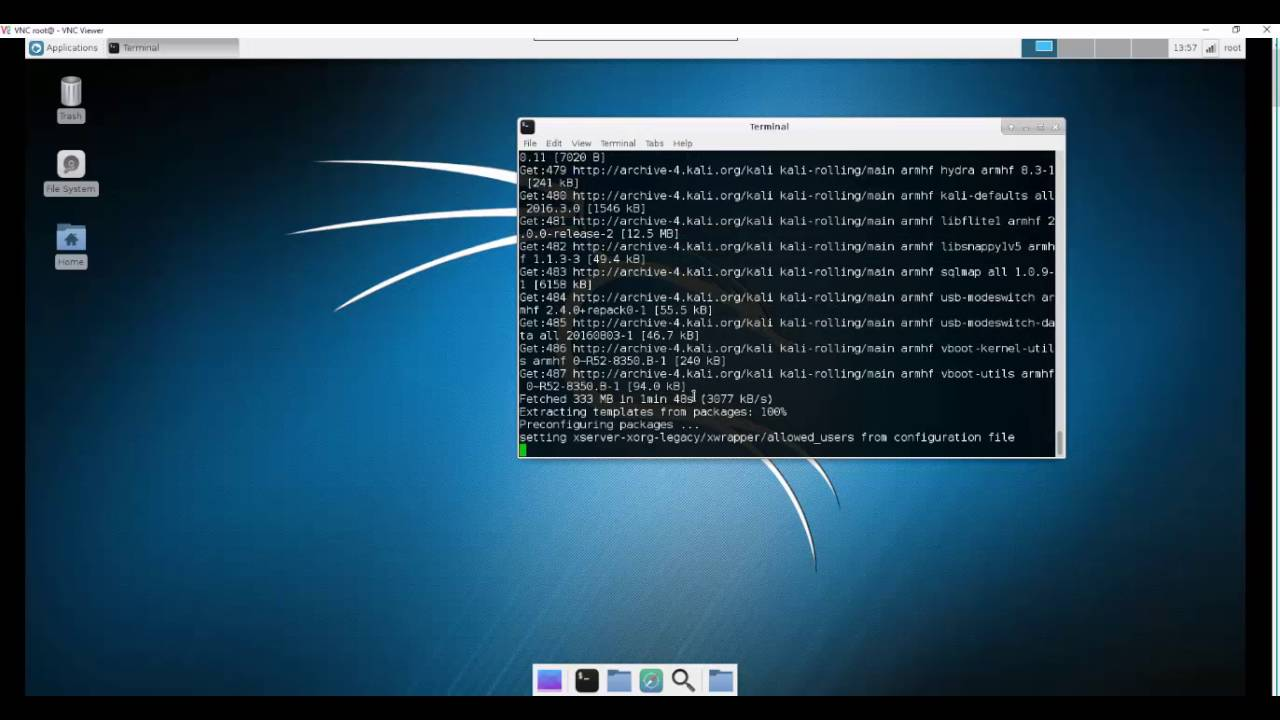 Installing full version of Kali Linux on Raspberry Pi 3