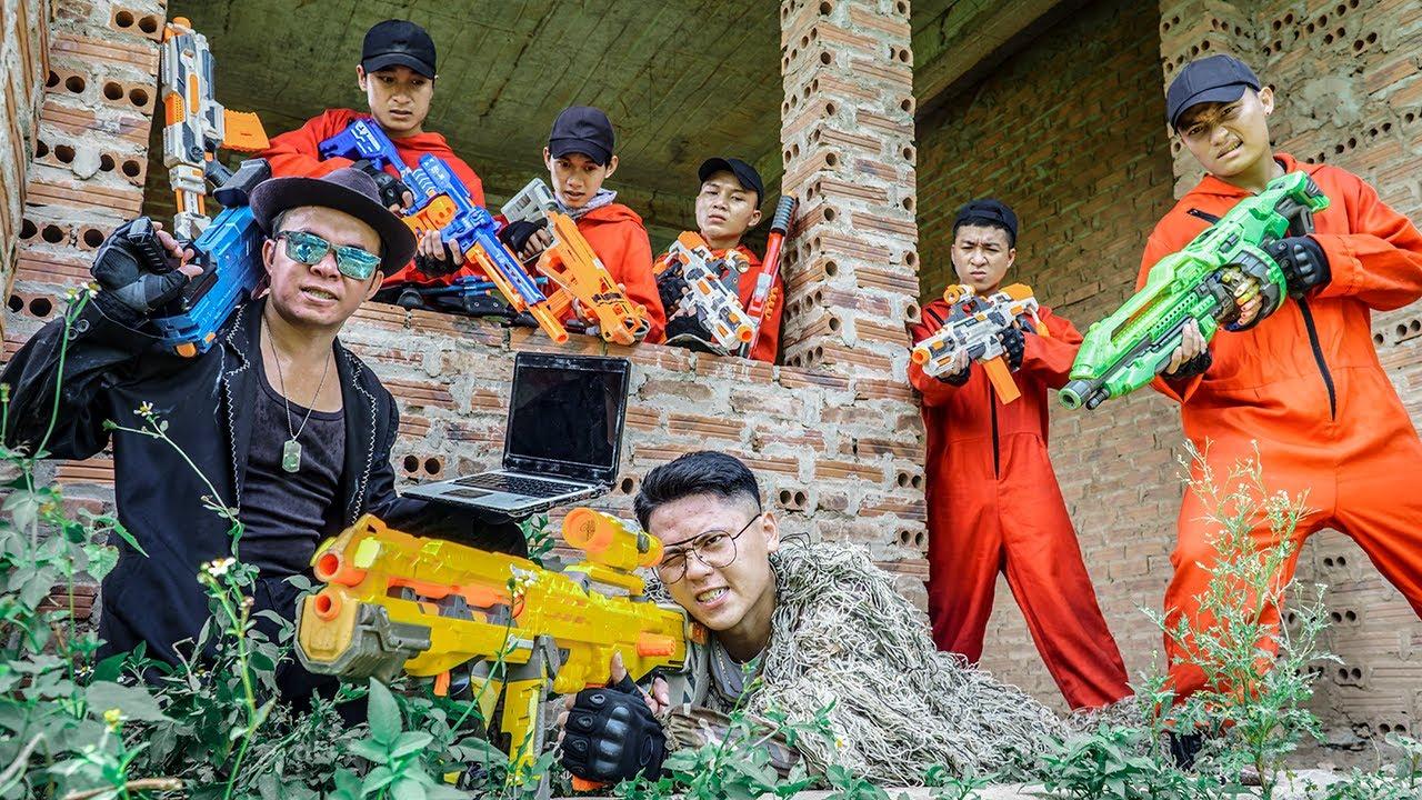 LTT Nerf War : Stealth Sniper SEAL X Warriors Nerf Guns Fight Criminal Group Dr Ken Crazy