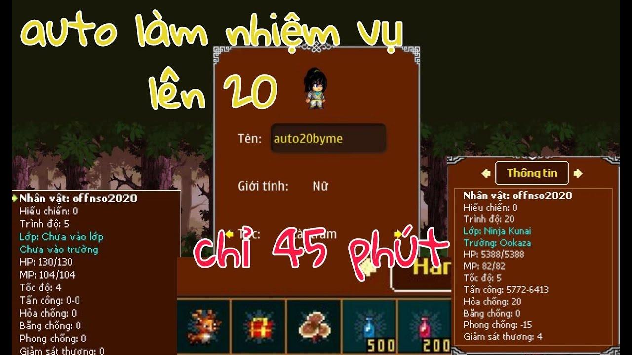 ►Ninja School Online►Share Phiên Bản Hỗ Trợ Làm Nhiệm Vụ Đến 20 Chỉ Trong 45 Phút !!!