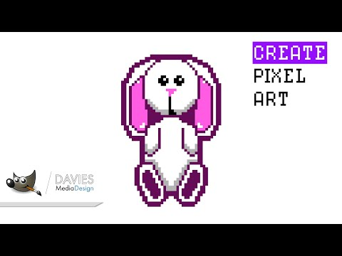 How to Create Pixel Art in GIMP 2.10.10 thumbnail