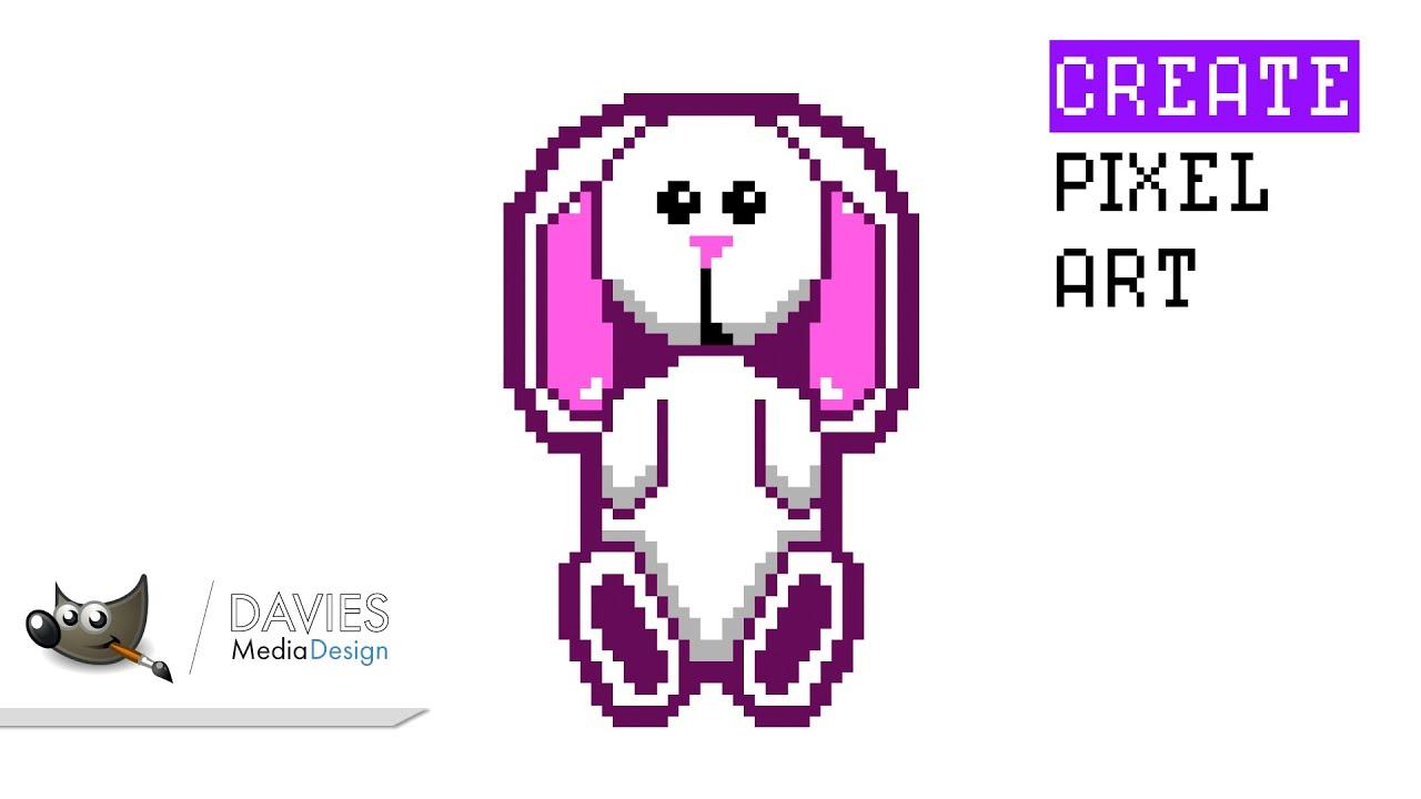How to Create Pixel Art in GIMP 2 10 10   Davies Media Design