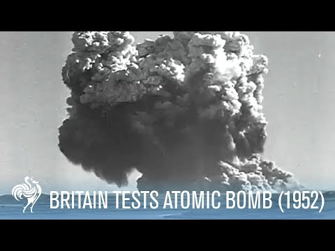 Dramatic Footage Of Britain Testing An Atomic Bomb (1952) | War Archives