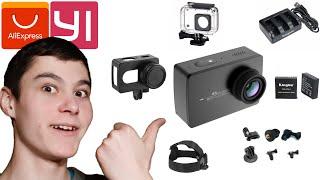 Что купить для экшн камеры Y  4K  Аксессуары с Алиэкспресс  Распаковка