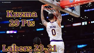 Kyle Kuzma 29 Pts in Tough Loss Against Cavs, Lakers Loss to the Cleveland Cavaliers 101-95