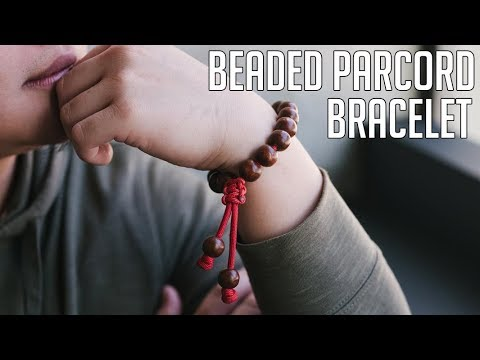 How To Make A Beaded Bracelet | Adjustable Wooden Beaded Paracord Bracelet Tutorial