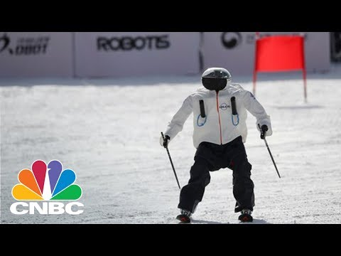 Robot Skiers Hit The Slopes In An Olympics-Style Downhill Competition | CNBC