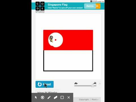 Drawing the Singapore Flag with code