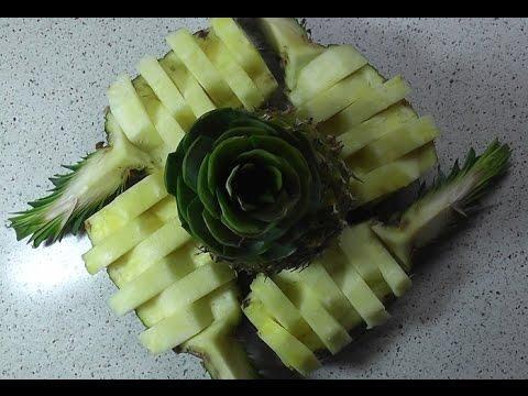 Видео как порезать ананас