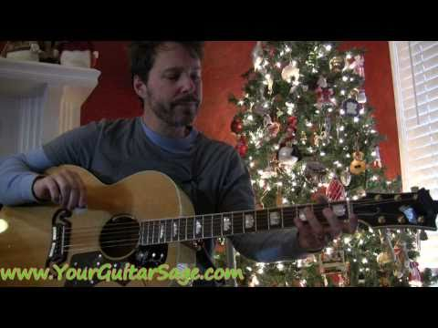 Jingle Bells - How to play on acoustic guitar Christmas song beginner lesson
