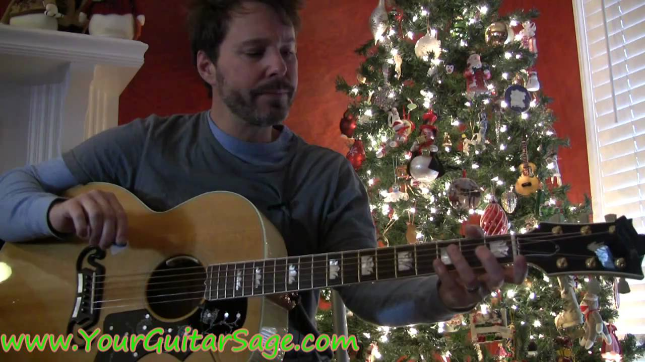 Jingle Bells - How to play on acoustic guitar Christmas song ...